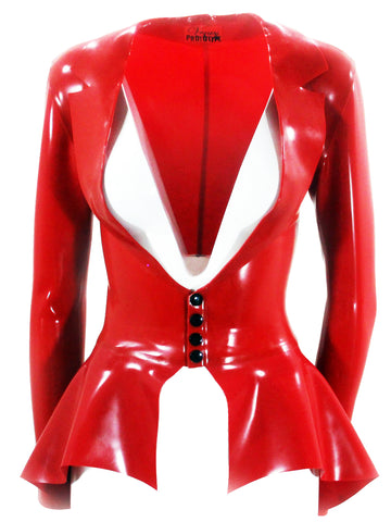 Master of Peplum Latex Jacket