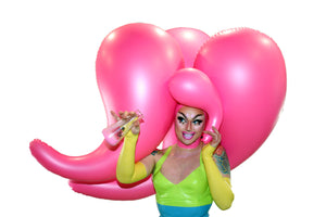 Giant Pepto Famine Latex Inflatable Wig