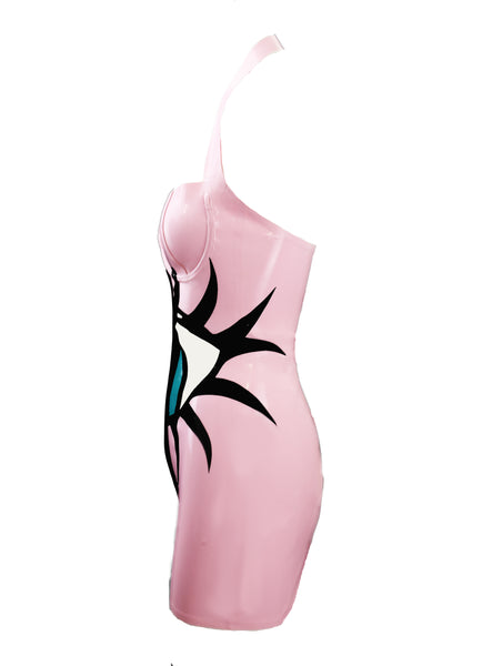 Pink Eyeball Latex Dress