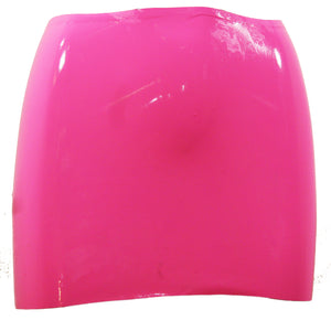 Bubblegum Pink Latex Mini Skirt