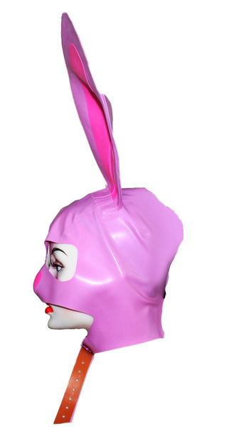 Pink Playboy Bunny Latex Mask