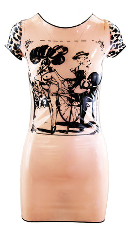 Pink Pony Girl Latex T Shirt Dress