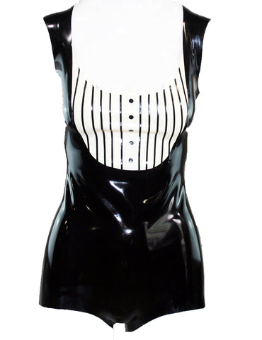 Pinstripe Latex Bodysuit