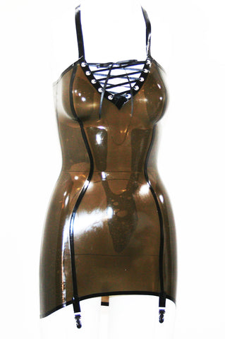 Poison Roza Latex Mini Dress