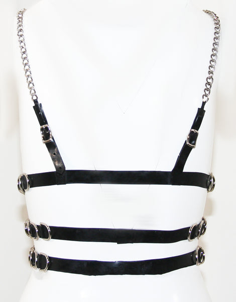 Poison Roza Latex Chest Harness