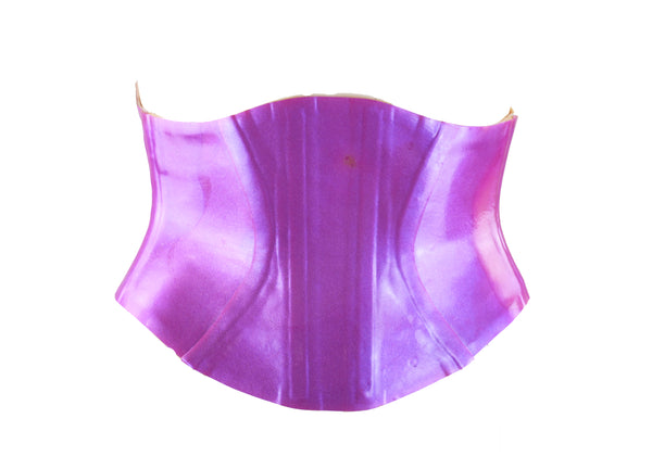 Poured Purple Color Shift Glitter Heavy Rubber Latex Corset