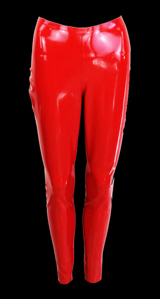 Red Latex Leggings