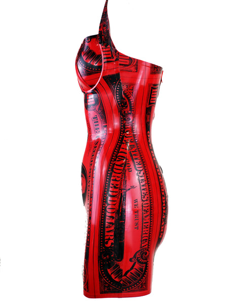 Blood Money Latex Mini Dress