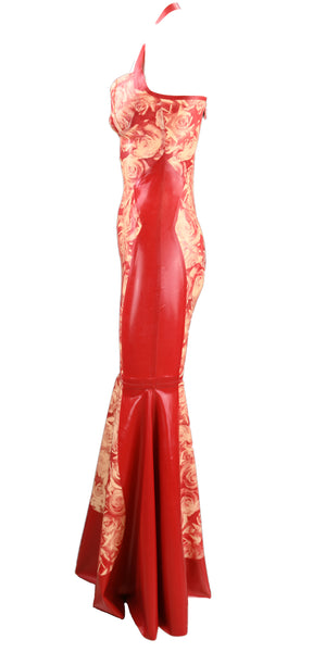 Red Rose Latex Gown