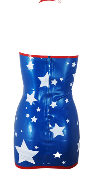 Sexy Amerika Latex Dress