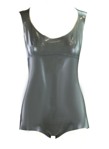 Metallic Silver Latex Bodysuit