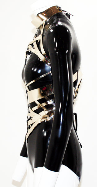 The Gold Chrome Skull Body Harness