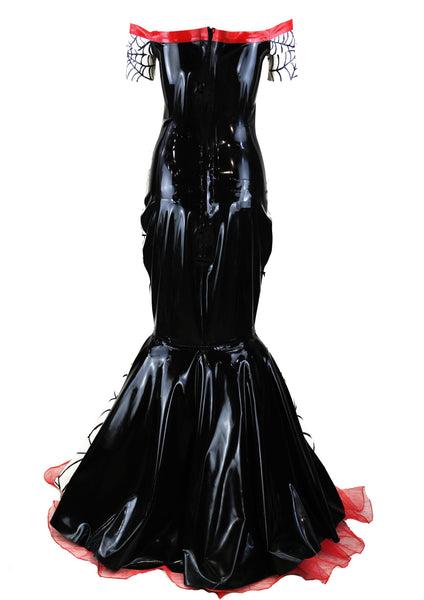 Anhedonia Delight Spider Web Latex Gown