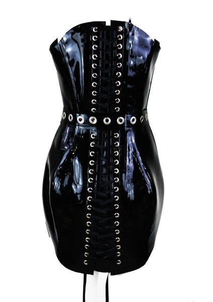Tulip Latex Corset Dress & Ninja Belt