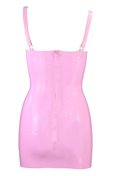 Lavender Latex Tulip Cup Mini Dress