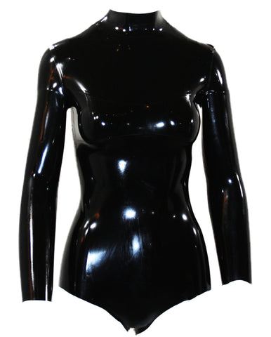 The Plain Latex Turtle Neck Bodysuit