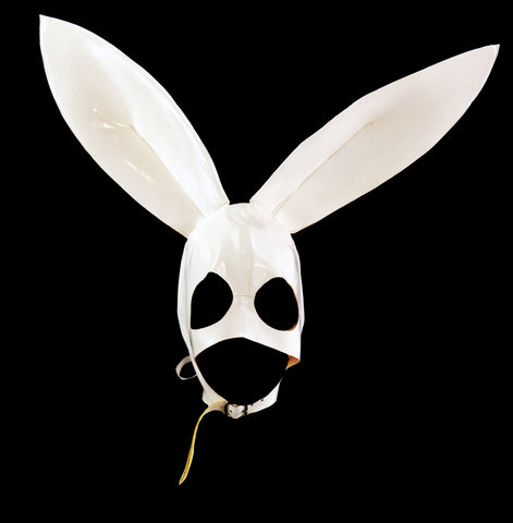 White Playboy Bunny Latex Mask