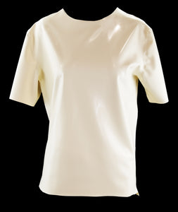 Scoop Neck Latex Short Sleeve T Shirt