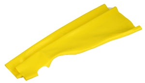 Yellow Latex Fingerless Opera Length Gloves