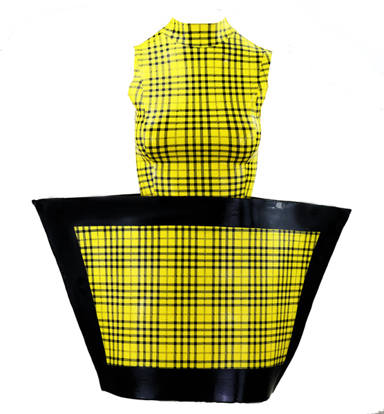 Couture Shop Plaid Latex Outfit