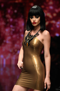 Yilena Latex Mini Dress