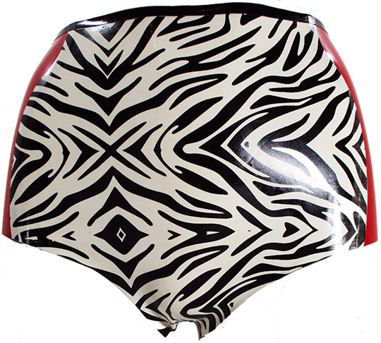 Zebra Print High Waisted Booty Shorts - BIZARRE FETISH COUTURE