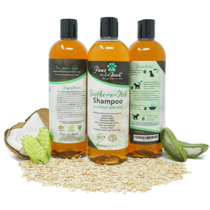 3 Units of Soothe n Itch Dog Shampoo by Paws-a-Bunch with Ingredients. Colloidal Oatmeal Dog Shampoo for Dogs and Cats Anti-Itch