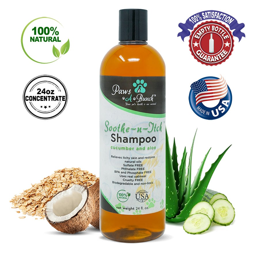 Soothe-N-Itch Natural Colloidal Oatmeal Dog Shampoo for Dogs and Cat Shampoo by Paws-A-Bunch. Bathing your dog bath.