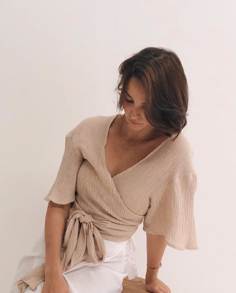 Zella Wrap Top - Clay