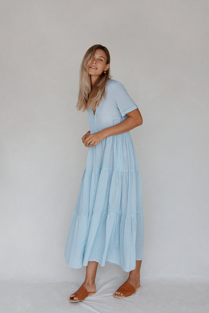 Sabia Dress - Sky Blue