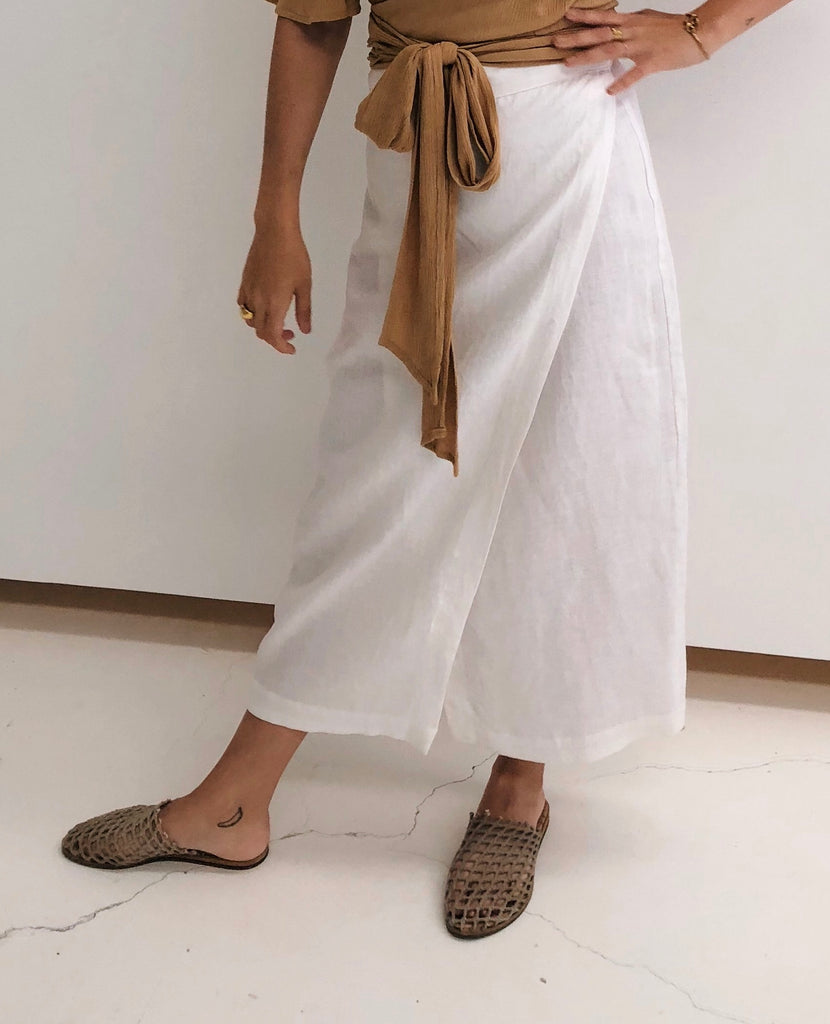 Saffia wrap skirt - White