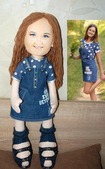 Textile Doll with Portrait Similarity