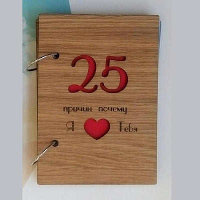 Gift book 25 Reasons Why i Love You