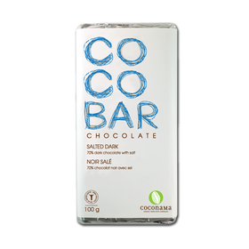 Salted Dark Chocolate Bar - Coconama