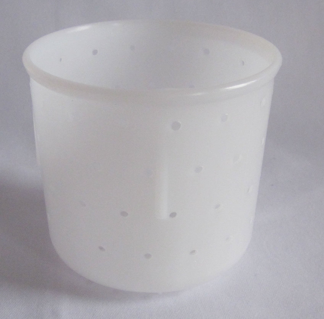 W36:PF3346 St-Marcellin Soft Cheese Mould - rounded bottom