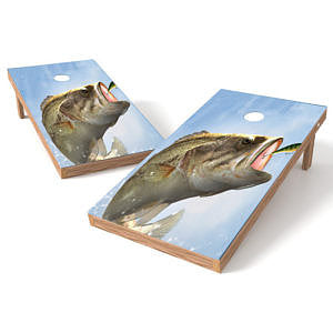 Official Size 2x4 Large Mouth Bass Lure Cornhole Game
