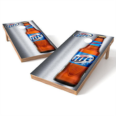 Official 2x4 Miller Lite Bottle Metal Cornhole Game