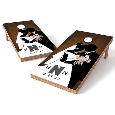 Official Size 2x4 Our Wedding Day Cornhole Game