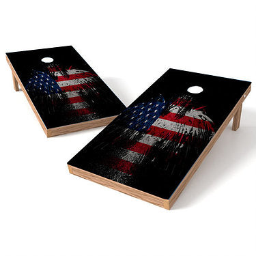 Official Size 2x4 Eagle Splash Cornhole Game