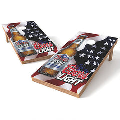 Official 2x4 Coors Light American Flag Cornhole Game