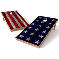 Official Size 2x4 Stars and Stripe Cornhole Game