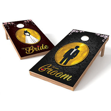 Official Size 2x4 Wedding Bride and Groom Cornhole Game