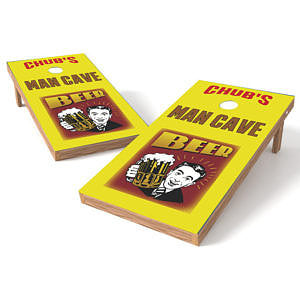 Official 2x4 Beer Man Cave Cornhole Game