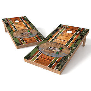 Official Size 2x4 Mallard Ducks Wood Cornhole Game