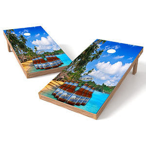 Official 2x4 Blue Mood Paradise 2 Cornhole Game