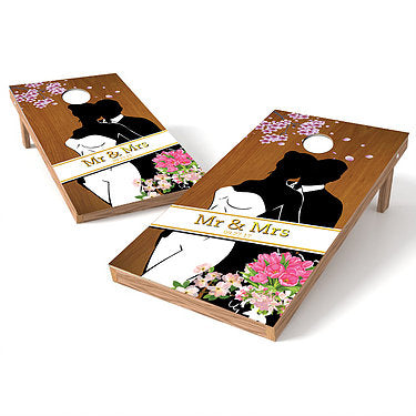Official Size 2x4 Mr. And Mrs. Wedding Cornhole Game