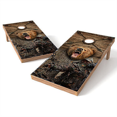 Official Size 2x4 Bear Hunter Cornhole Game