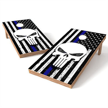 Official Size 2x4 White Reaper Blue Lives Matter Cornhole Game