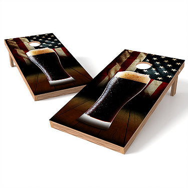 Official 2x4 Beer Mug Flag Cornhole Game