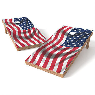 Official Size 2x4 American Flag Cornhole Game